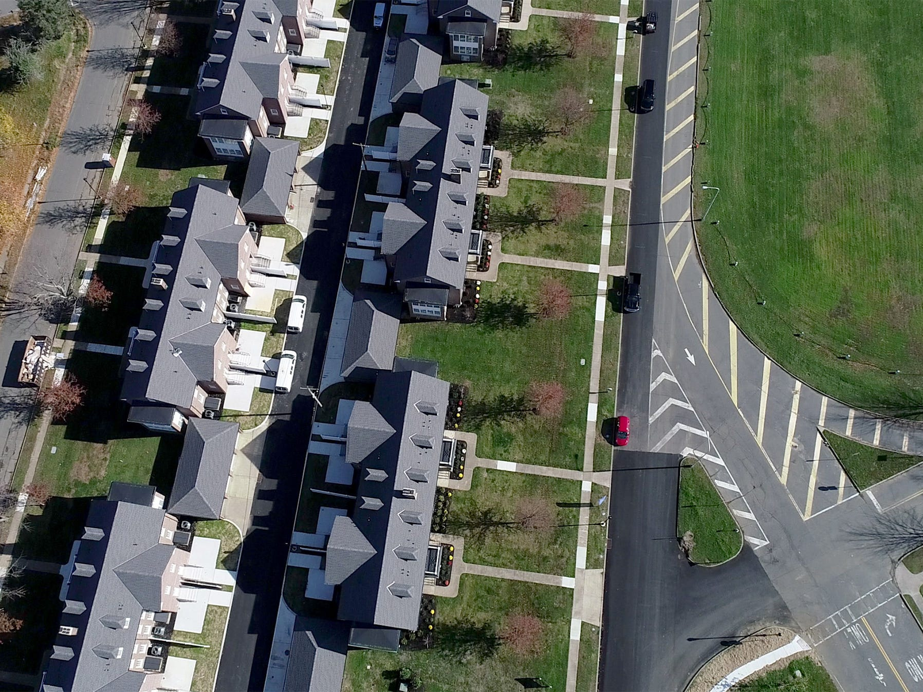 Aerial survey of the former Fort Monmouth property.