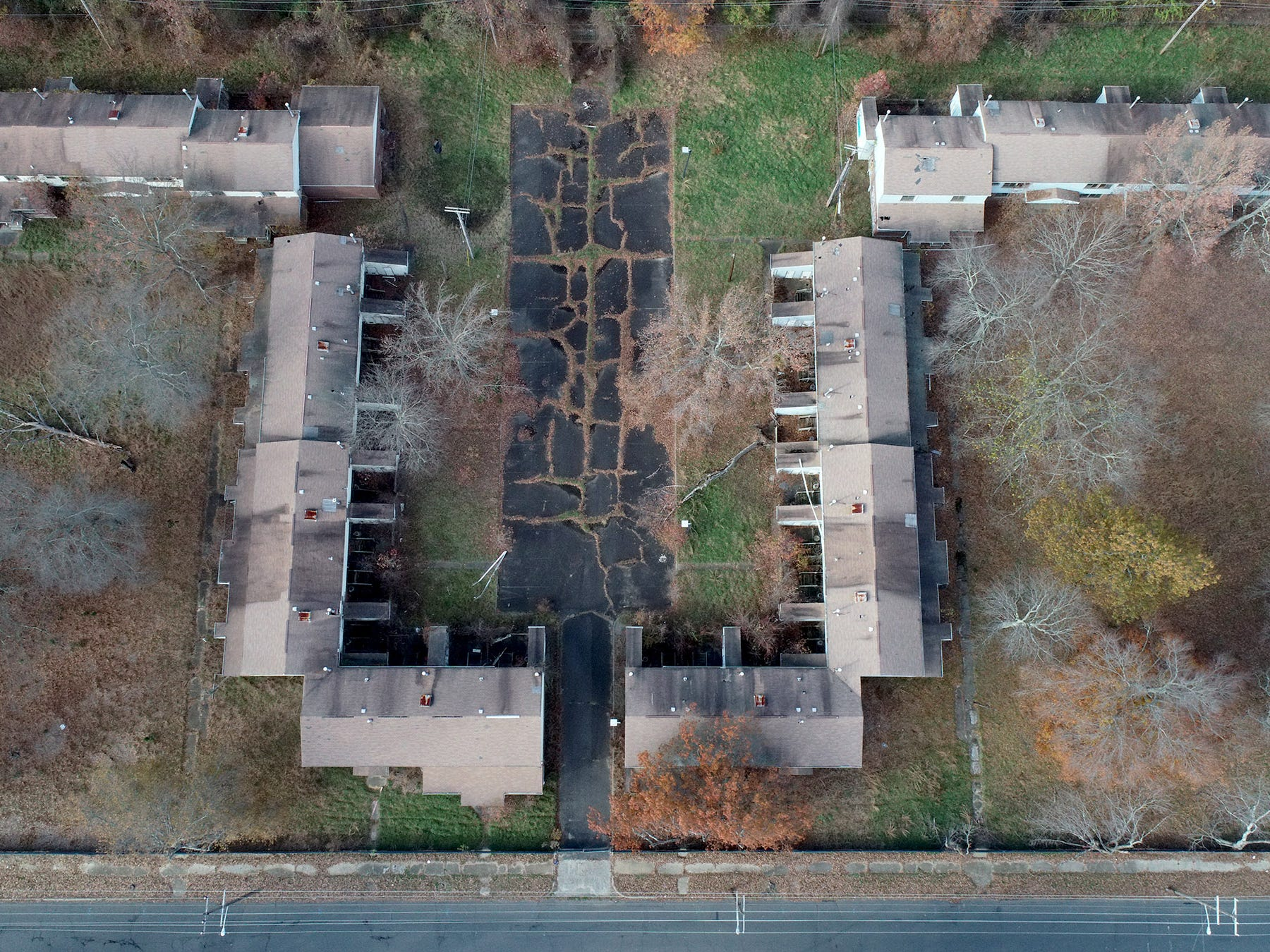 The Howard Commons area on the former Fort Monmouth property is shown Wednesday, November 14, 2018.