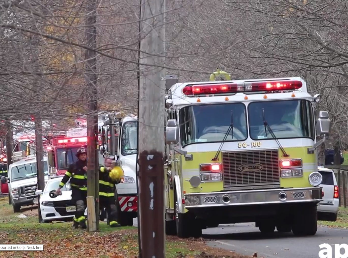 The scene of a fatal fire in Colts Neck on Nov. 20.