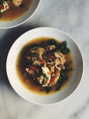 At Modine in Asbury Park, chicken and dumplings is made with parsnips, kale and sherry.