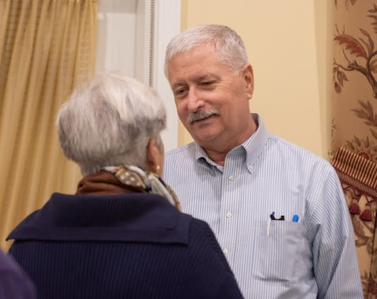 Lakewood resident Rob Robison addresses community