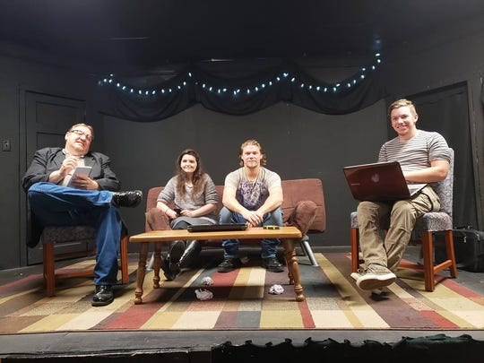 "The cast of ""Listen"" at the Grange Playhouse in Howell."