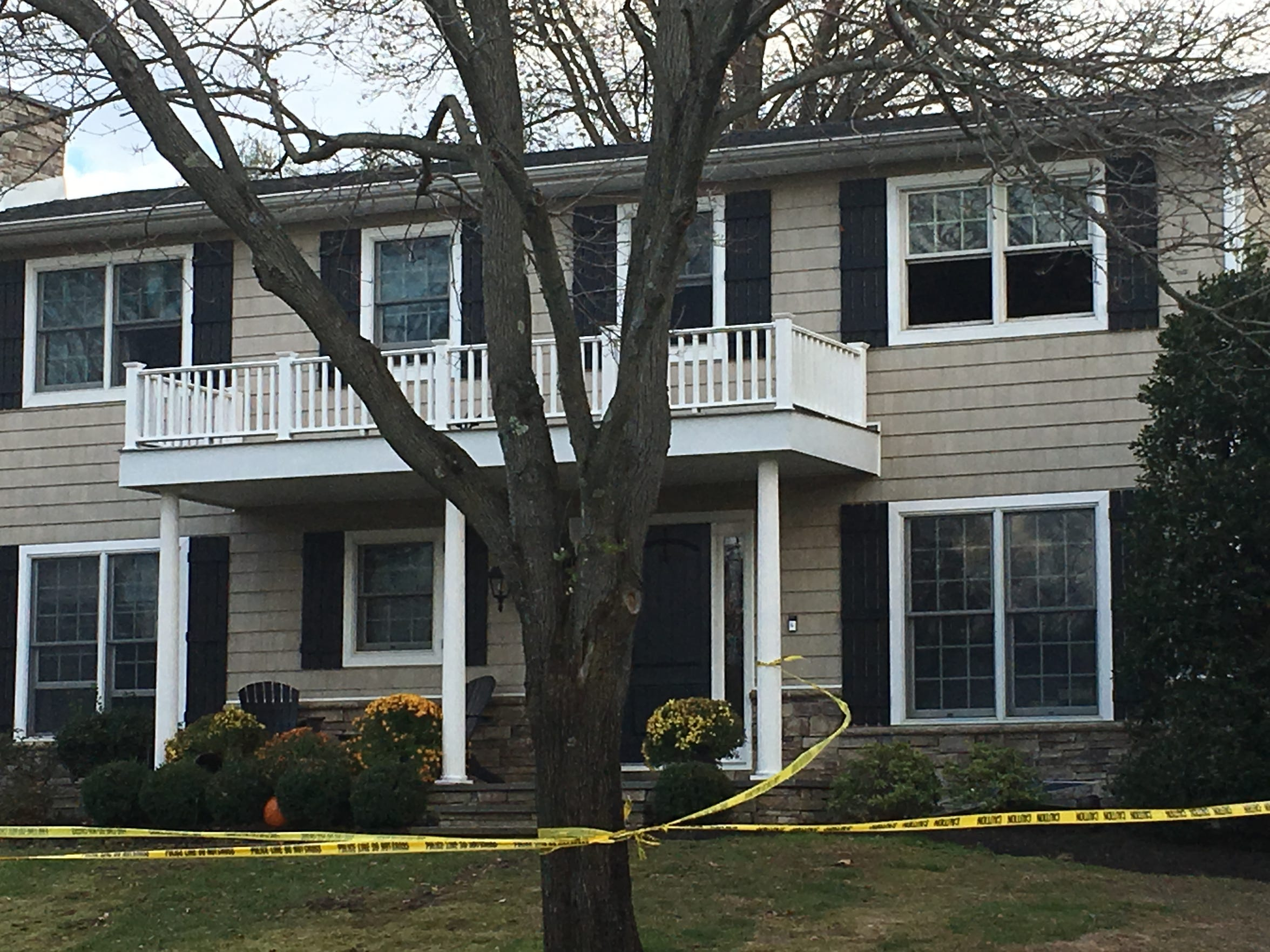 Crime scene tape surrounded a home on Tilton Drive in Ocean Township Tuesday afternoon.