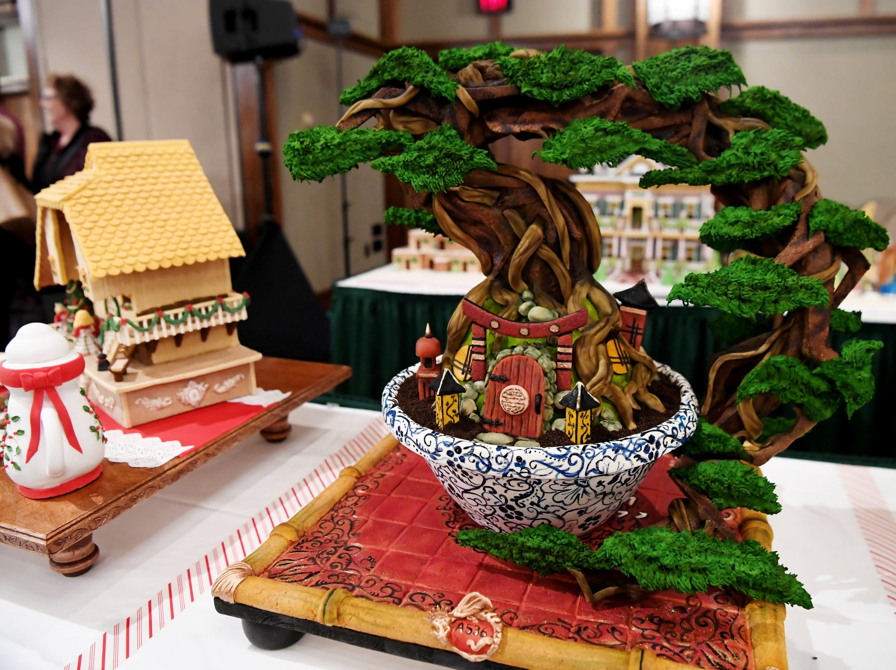People gathered at the Omni Grove Park Inn to see the winners of the annual gingerbread competition Nov. 19, 2018.