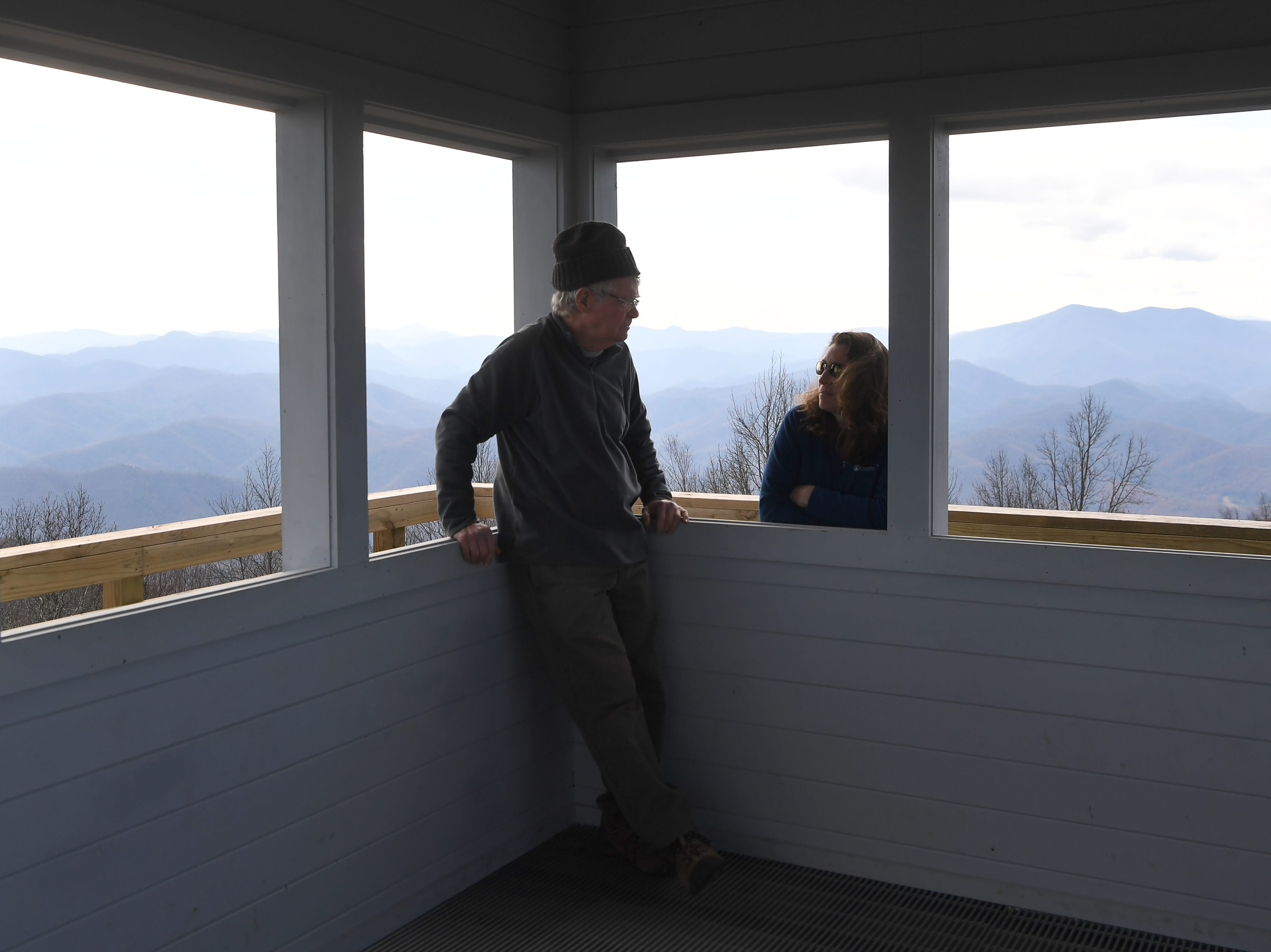A ribbon cutting ceremony was held at the Rich Mountain lookout tower near Hot Springs Nov. 19, 2018.