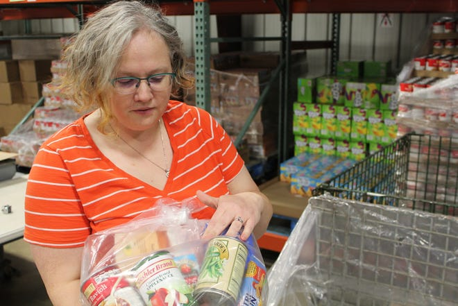 Food Bank of South Central Michigan Communications Manager Holly Cavinder says with every $1 the food bank receives, it can provide six meals.