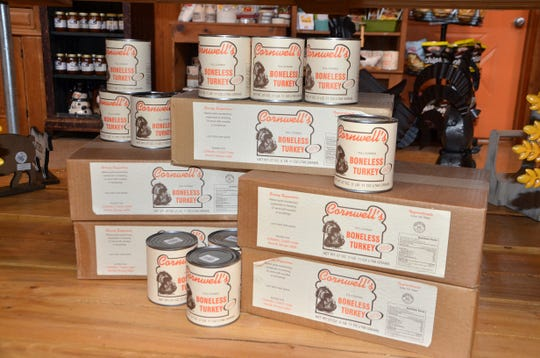 Cornwell's Turkeyville has sold canned turkey for about 30 years. Customers can now buy it from Turkeyville's online store.