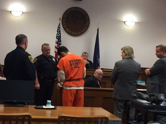 Michael Roque was sentenced Nov. 20 in Broome County Court for the murder of Binghamton University student Joao Souza.
