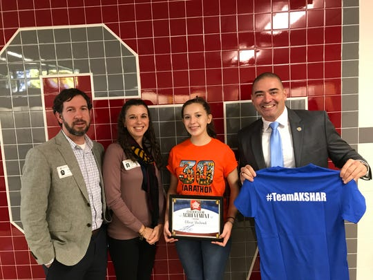 Senator Fred Akshar recognized Chenango Valley High School sophomore Olivia Bochenek as part of his Akshar's All-Stars program.