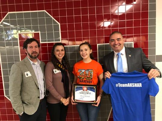 Senator Fred Akshar recognized Chenango Valley High School sophomore Olivia Bochenek as part of his Akshar's All-Stars program.
