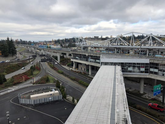 The light rail station at Seattle-Tacoma International airport, the starting point for many who take it and the state ferry to and from Kitsap.