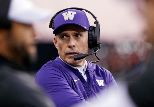 Washington head coach Chris Petersen has a lot to think about ahead of the Apple Cup showdown with Washington State's offense.