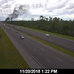 Tractor trailer fire reported on I-95 near Palm Bay