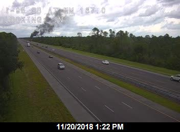 Tractor trailer fire on I-95 near Palm Bay Tuesday afternoon.