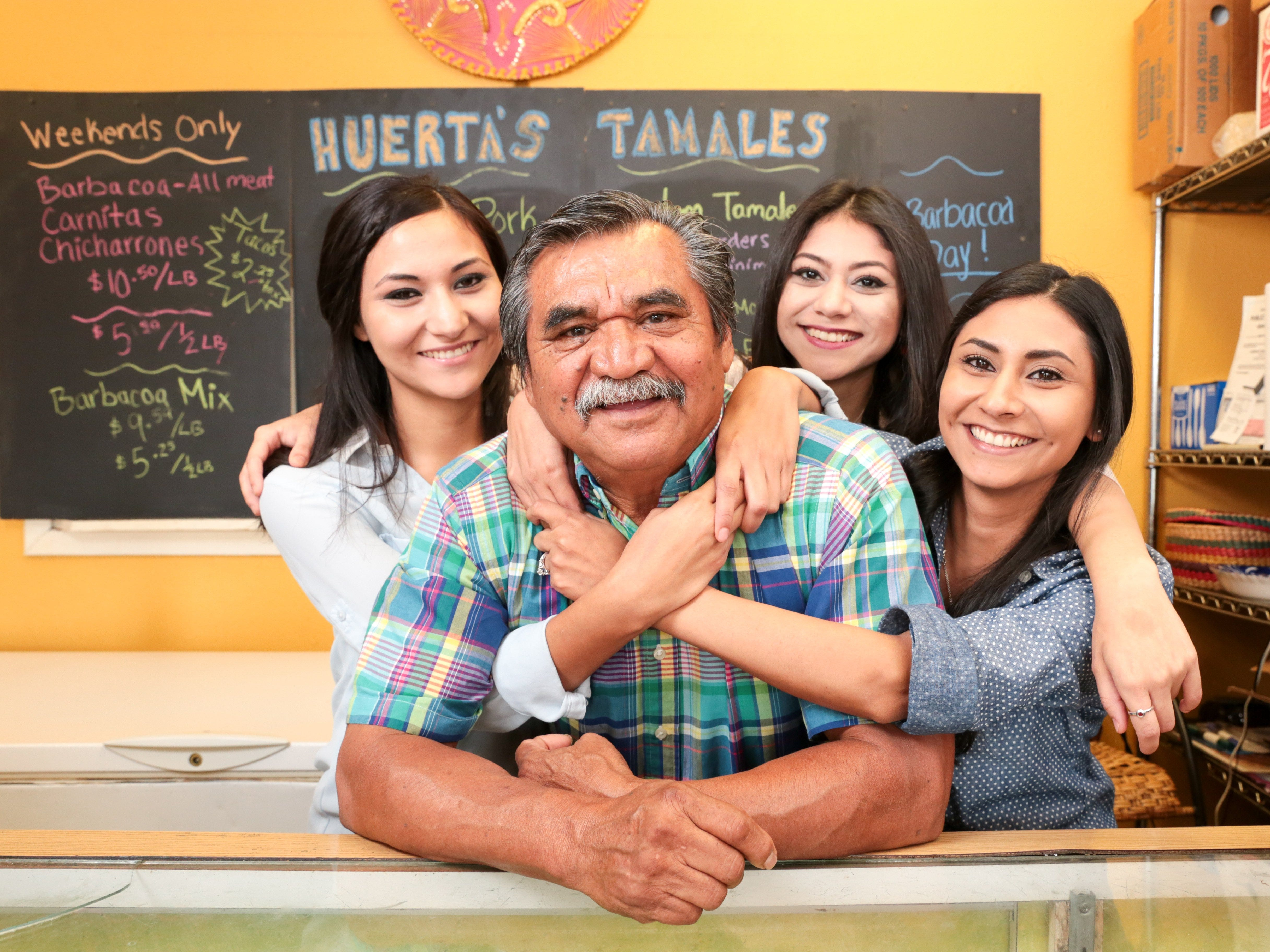Huerta's Tamales on South Staples Street will close its doors on Dec. 31.  In 2015, Jose Huerta was featured in a Caller-Times Father's Day story with his daughters Samantha, Sarah and Lourdes Huerta.
