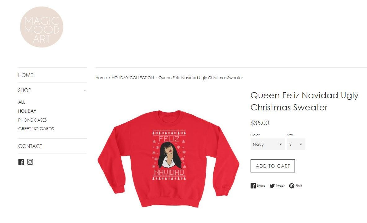 2ef6c64a15d4 This Selena sweater is a must-have for fans this holiday season