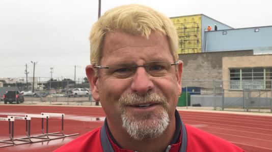 Ray head football coach Craig Charlton, blonde