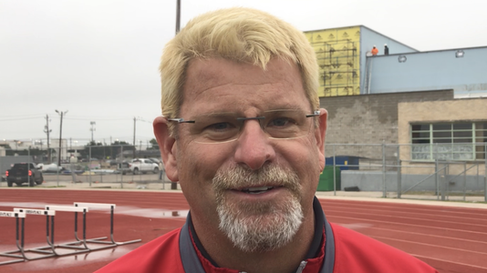 Ray head football coach Craig Charlton, blonde
