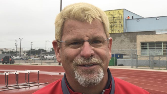 Ray head football coach Craig Charlton dyed his hair blonde along with several members of the Texans' football team after winning three consecutive games to make the playoffs for the first time since 2013.