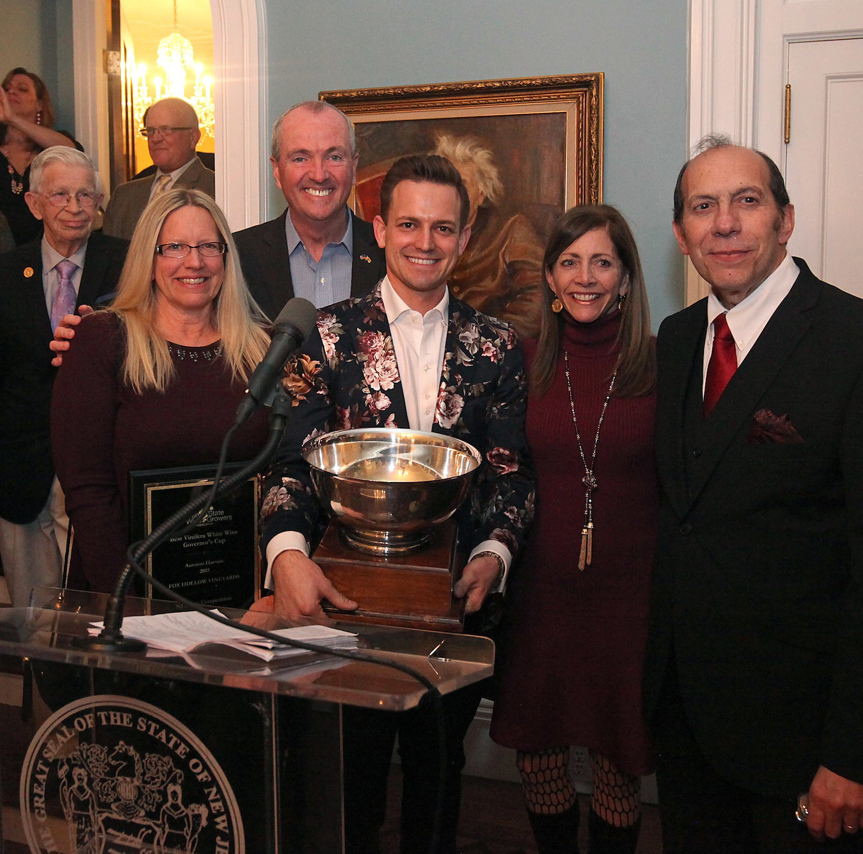 9 New Jersey wineries honored at Drumthwacket statewide awards