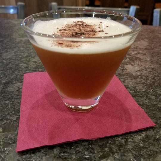 An espresso martini with housemade Kahlua from MADE Atlantic City Chocolate Bar.