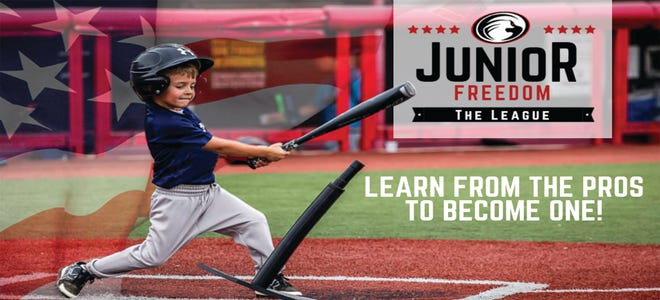 Picture from a promo ad for the Florence Freedom's new junior baseball league.