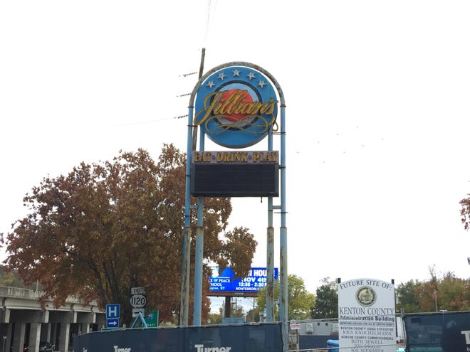 The Jillian's nightclub sign sold to the highest bidder at GovDeals.com.