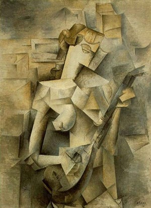 Picasso's GIrl with a Mandolin, 1910.