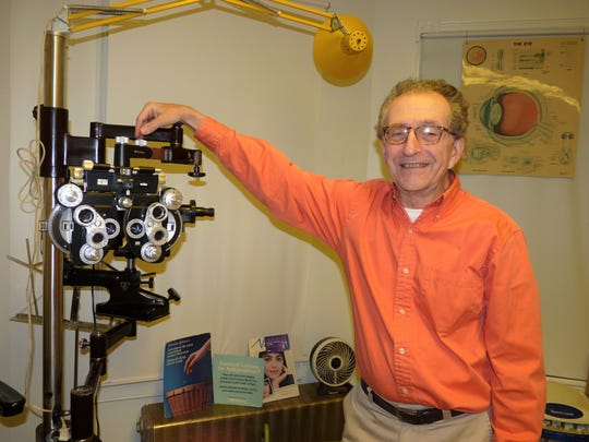 David Weininger at his New Brunswick optometry office.