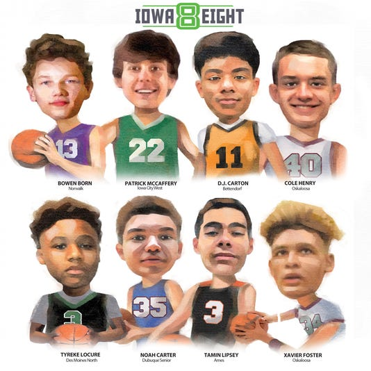2018-19 boys' basketball iowa eight