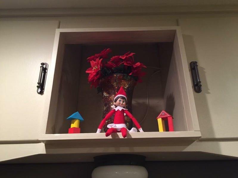 Shawne Wittrock enjoys how Sparkle Heart, their Elf on a Shelf, uses everyday items and toys around their Iowa home.