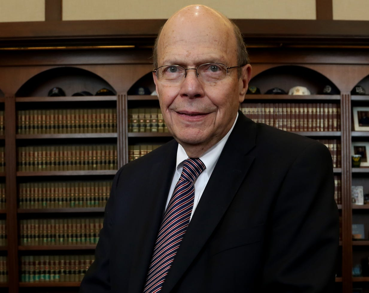 Judge Bernard Friedman photographed in his office at the Theodore Levin U.S. Courthouse in Detroit, Michigan on Tuesday Sept. 22, 2015.
