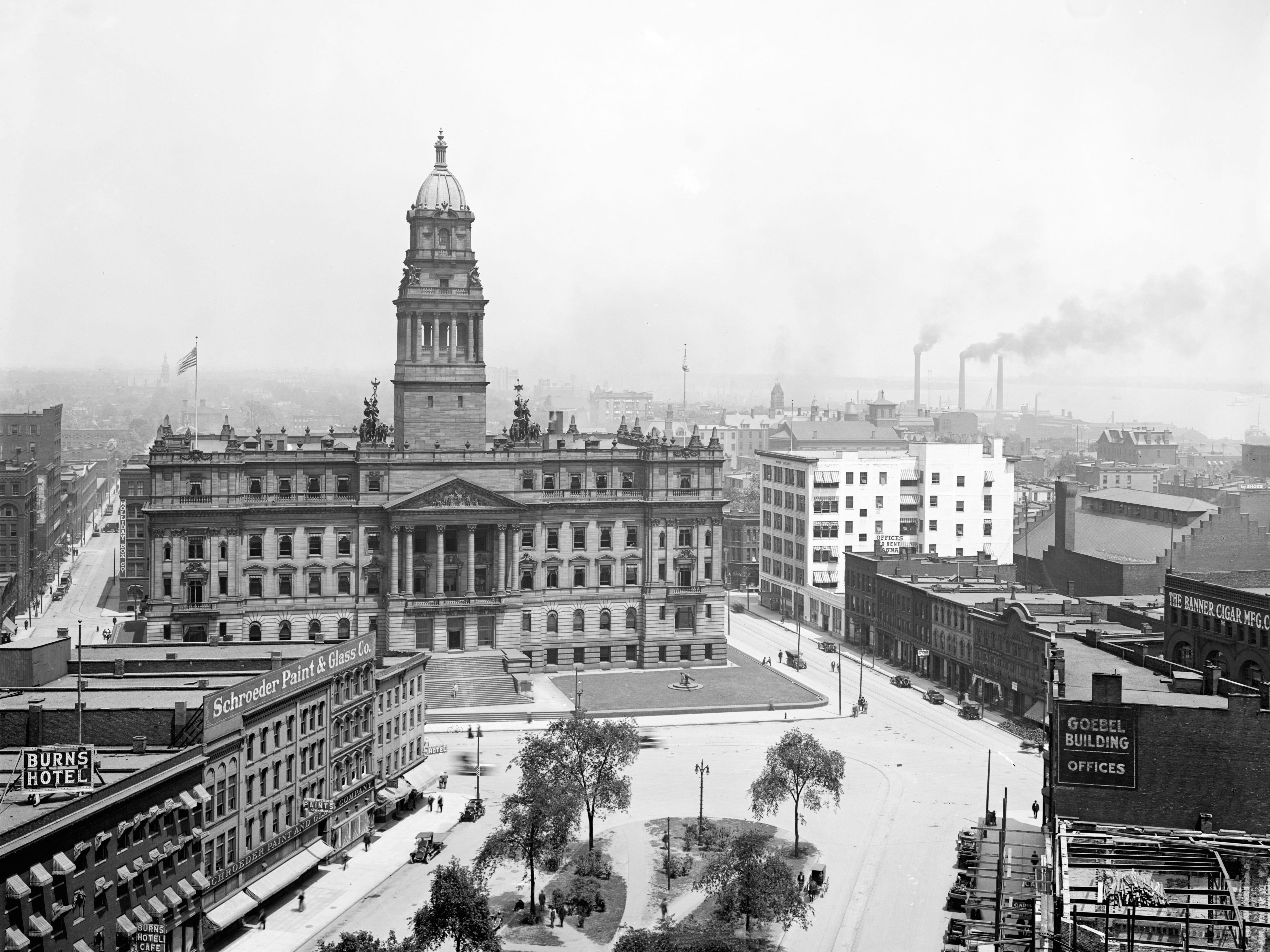 Wayne County Building, circa 1915.