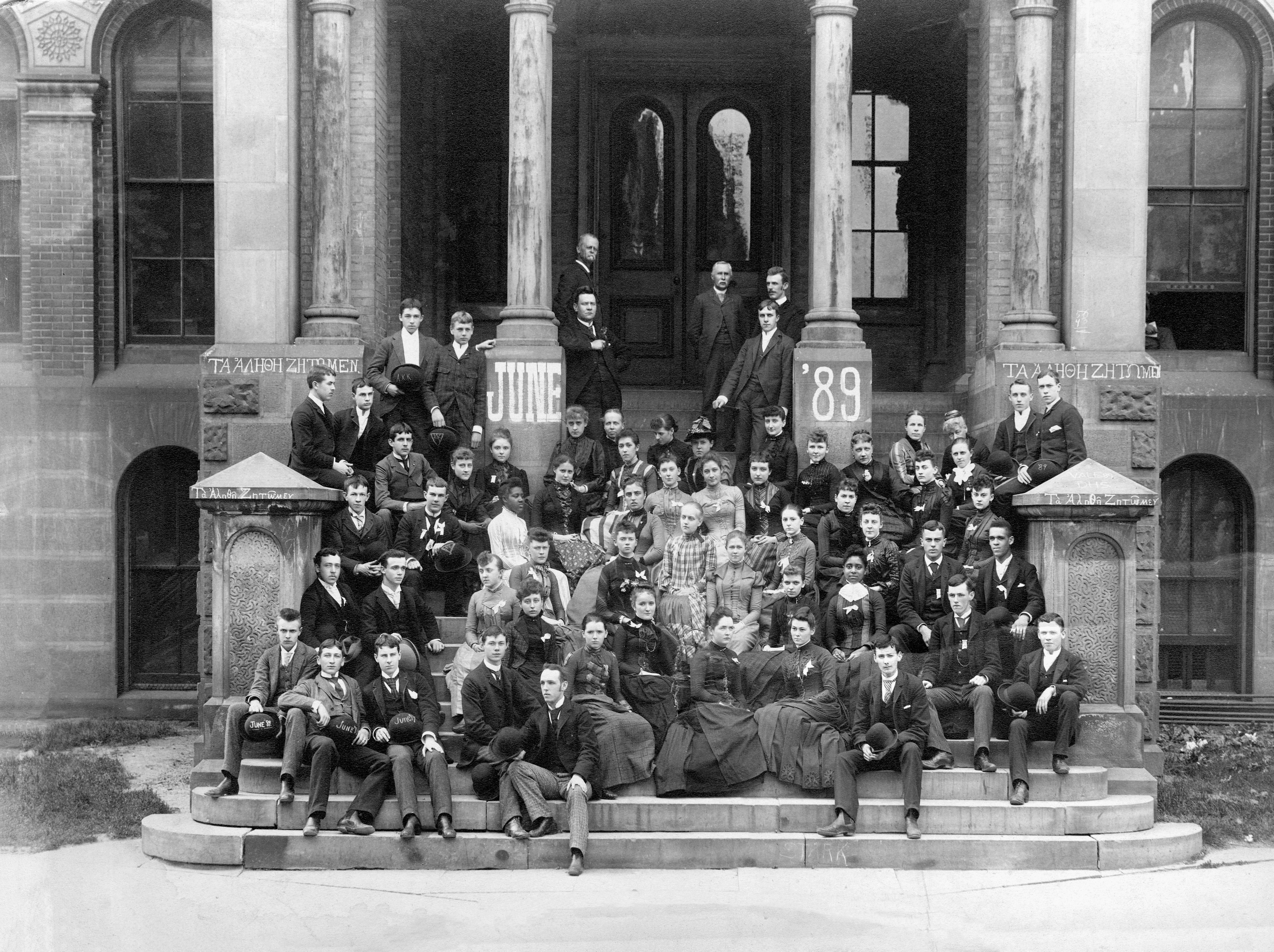 Capitol Union High School graduating class, June 1889.