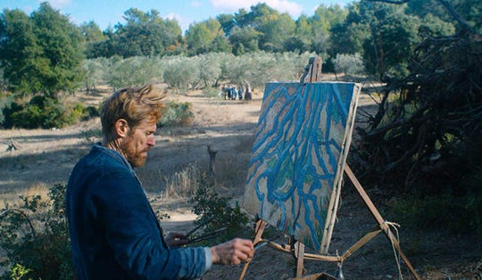 "Willem Dafoe as Dutch painter Vincent van Gogh in ""At Eternity's Gate."""