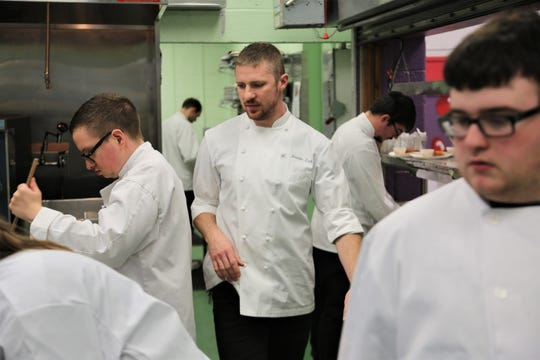 Former Public House and Imperial chef Brandon Zarb is now a paraprofessional at Rising Stars Academy in Center Line, where he teaches special needs students culinary skills.