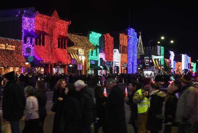 Downtown Rochester comes alive as the lights come on during The Big, Bright Light Show, presented by Fox automotive, on Lagniappe (Creole for a little something extra) Night on November 18, 2018.