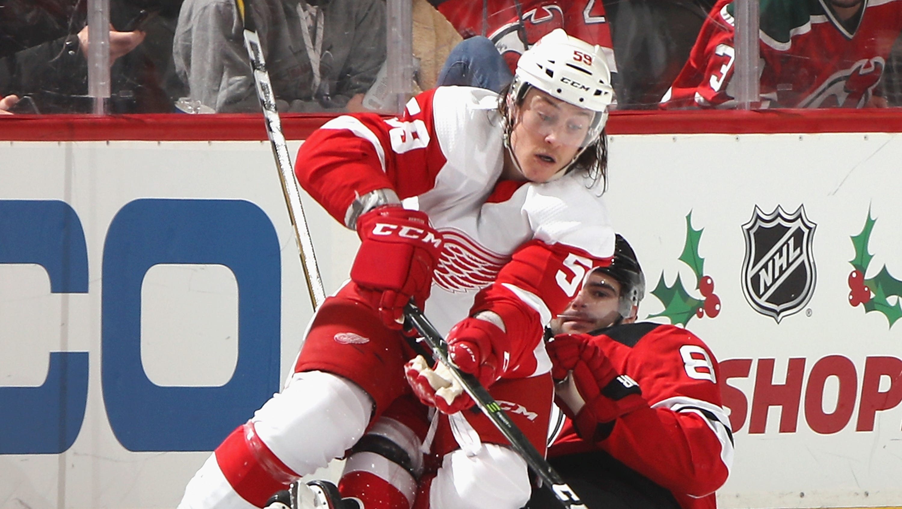 Wings defenseman Tyler Bertuzzi could see some time on the penalty kill while Darren Helm is sidelined with a shoulder injury.