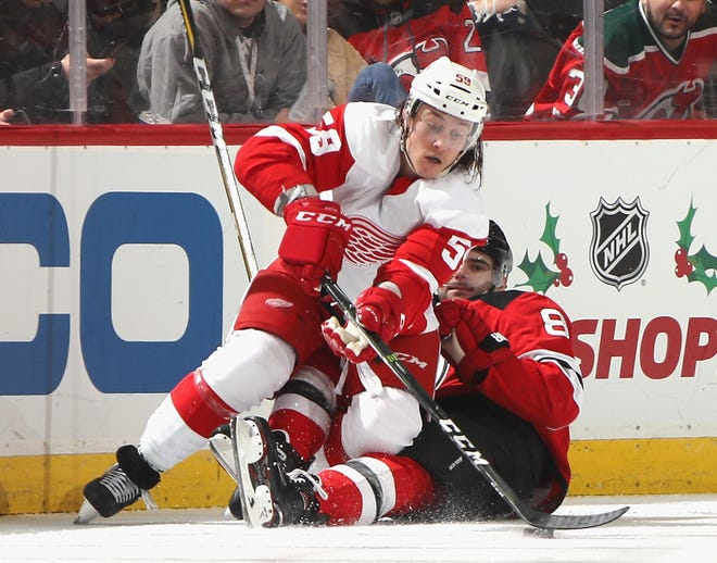 Wings forward Tyler Bertuzzi could see some time on the penalty kill while Darren Helm is sidelined with a shoulder injury.