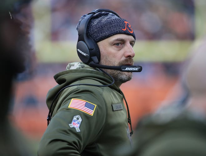 Chicago Bears head coach Matt Nagy says it's a good thing that his team was flexed into the Sunday night game, but hopes the league reevaluates the turnaround for teams that have to play on the following Thursday.