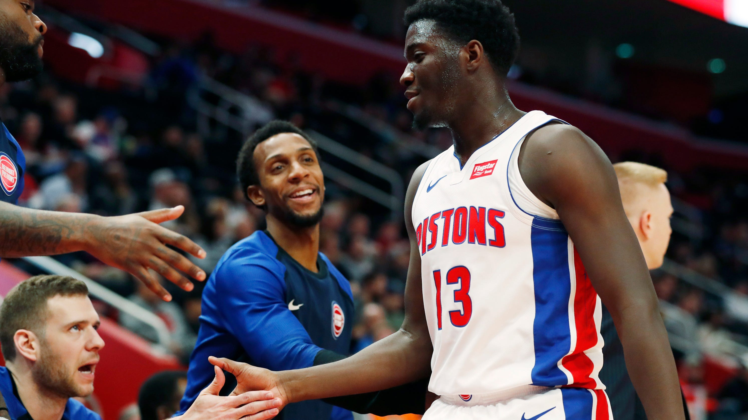 buy popular 0ccd4 d1080 Just let it fly': Khyri Thomas scores 26 in Pistons' Summer ...
