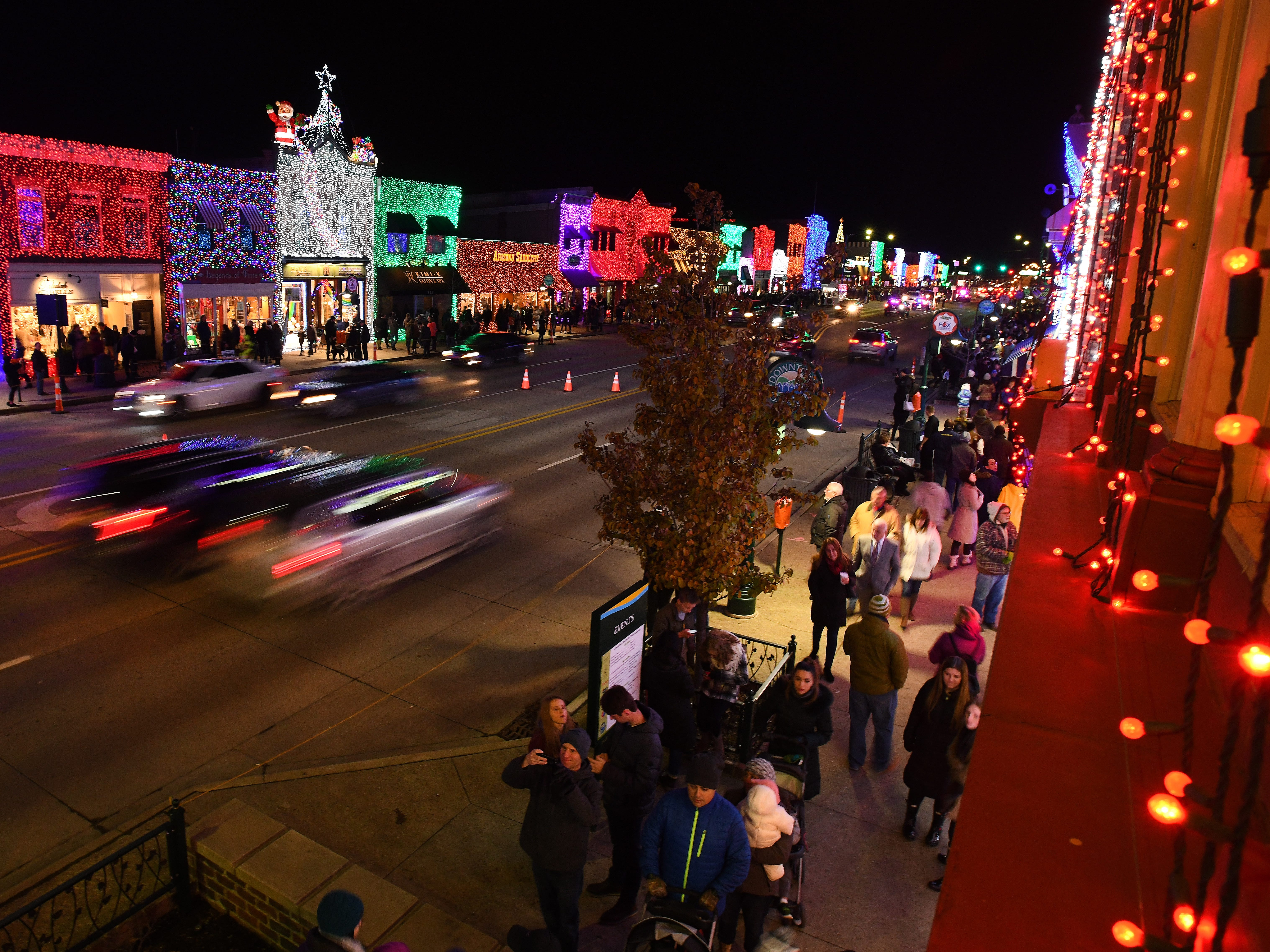 Downtown Rochester comes alive as the lights come on during The Big, Bright Light Show.