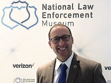 Former Chemung County sheriff's deputy Josh Bowman visited the new National Law Enforcement Museum in Washington recently.