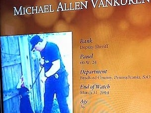 The National Law Enforcement Museum includes a memorial marker for Bradford County sheriff's deputy Michael VanKuren, who was killed in the line of duty in 2004.