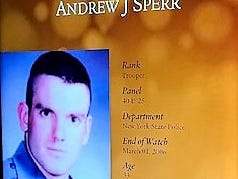 The National Law Enforcement Museum includes a memorial marker for New York State Trooper Andrew J. Sperr, who was killed in the line of duty in 2006 in a Town of Big Flats shootout.