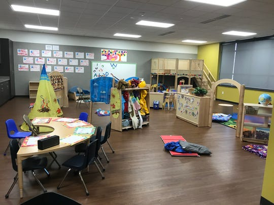 The expansion added 1,900 square feet to the school, particularly for younger grades as seen in this classroom.
