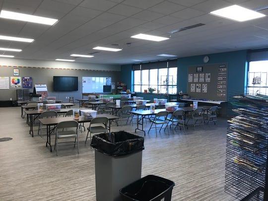 The new art classroom at Faith Lutheran School.