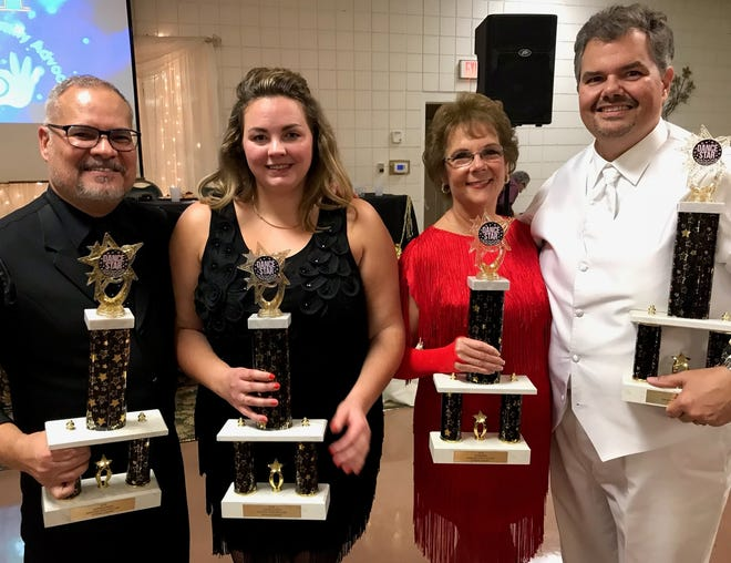 From left, 2018 Dancing with the Stars Judges Choice winners Steve Velasquez and Angela LeForce, and Champions Ann Duez and Jim Recker.