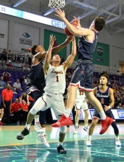 The Richmond Spiders played the Loyola Chicago Ramblers in the college basketball Fort Myers Tip-Off at the Suncoast Credit Union Arena, Monday, Nov. 19, 2018.  Loyola won 82-66.