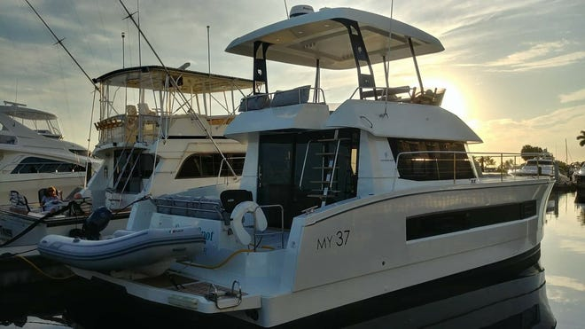 In the new Cape Coral class, students arrive on Sunday and stay in the Westin Cape Coral Resort. Monday morning, they board the Power Cat named Sweet Spot to live and learn aboard the vessel for a week.